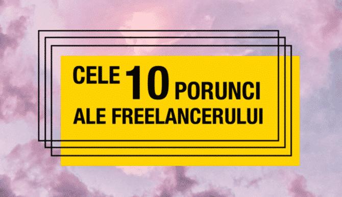 Cele 10 porunci ale freelancerului